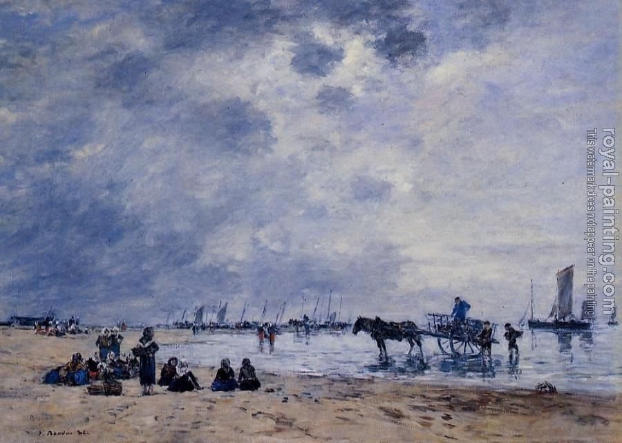 Eugene Boudin : Berck, the Arrival of the Fishing Boats