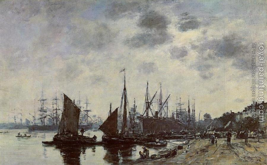 Eugene Boudin : Bordeaux, Bacalan, View from the Quay