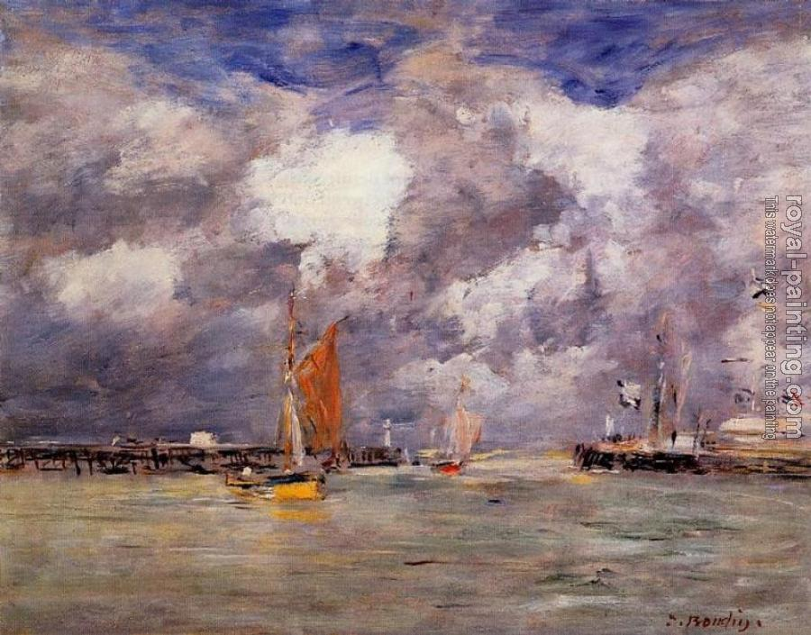 Eugene Boudin : Bortreux, the Port