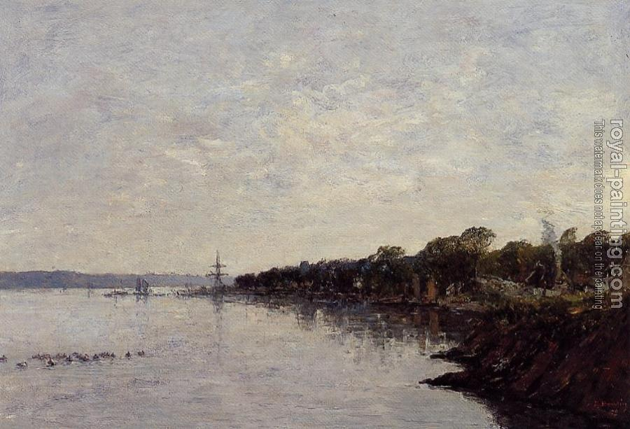 Eugene Boudin : Brest, the Banks of the Harbor