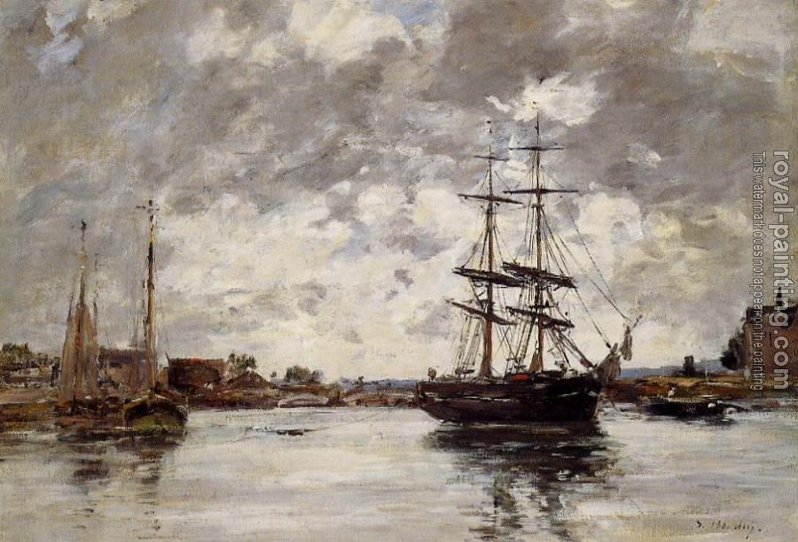 Eugene Boudin : Bridge over the Touques