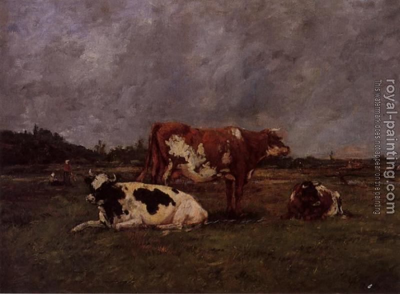 Eugene Boudin : Cows in Pasture