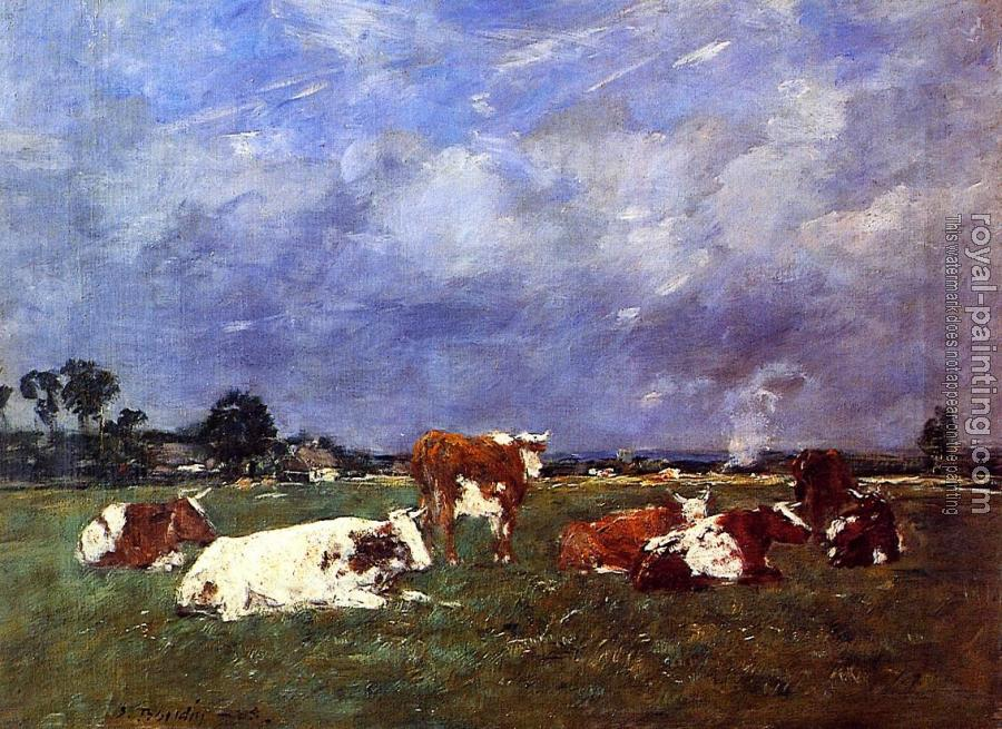 Eugene Boudin : Cows in Pasture II