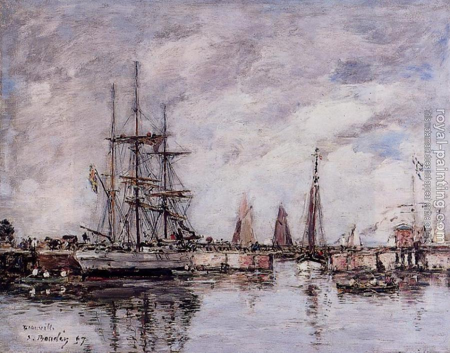 Deauville, Norwegian Three-Master Leaving Port