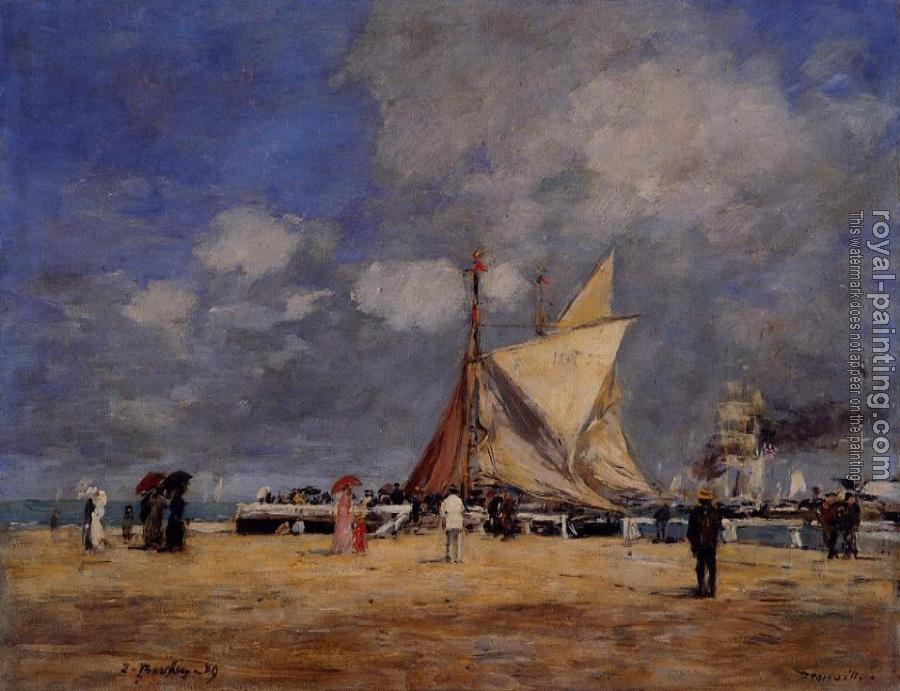 Eugene Boudin : Deauville, on the Jetty