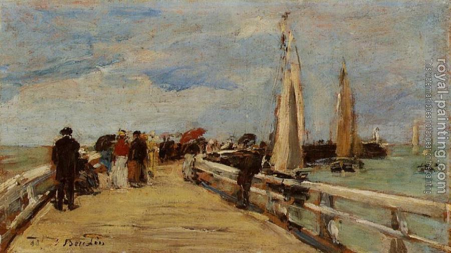 Eugene Boudin : Deauville, the Jetty II