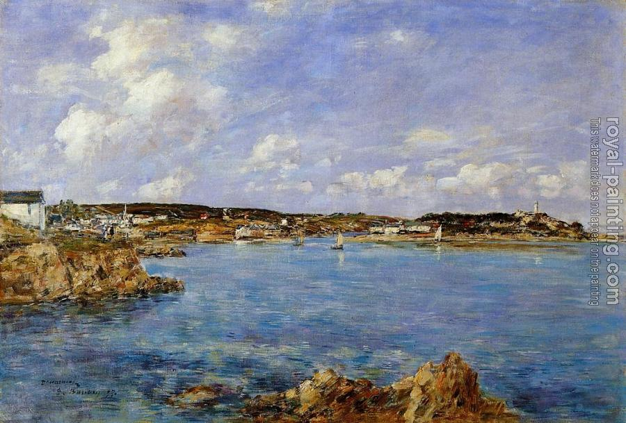Eugene Boudin : Douarnenez, the Bay, View of Ile Tristan