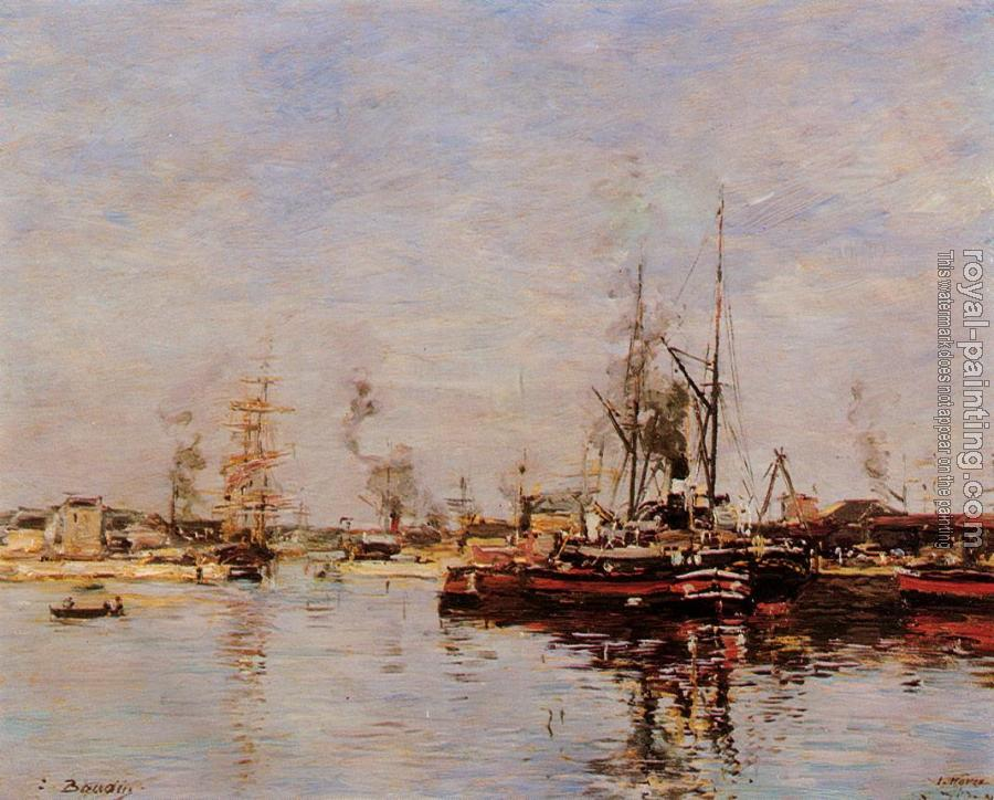 Eugene Boudin : Entrance to the Port of Le Havre
