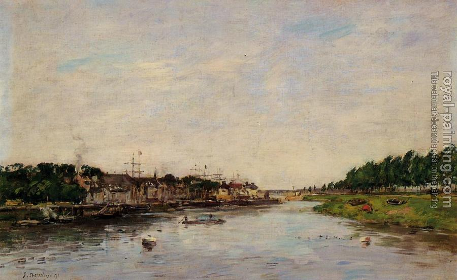 Eugene Boudin : Entrance to the Port of Saint-Valery-sur-Somme