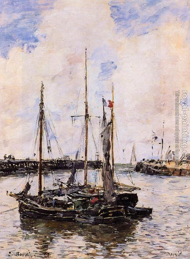 Eugene Boudin : Entrance to the Port of Trouville