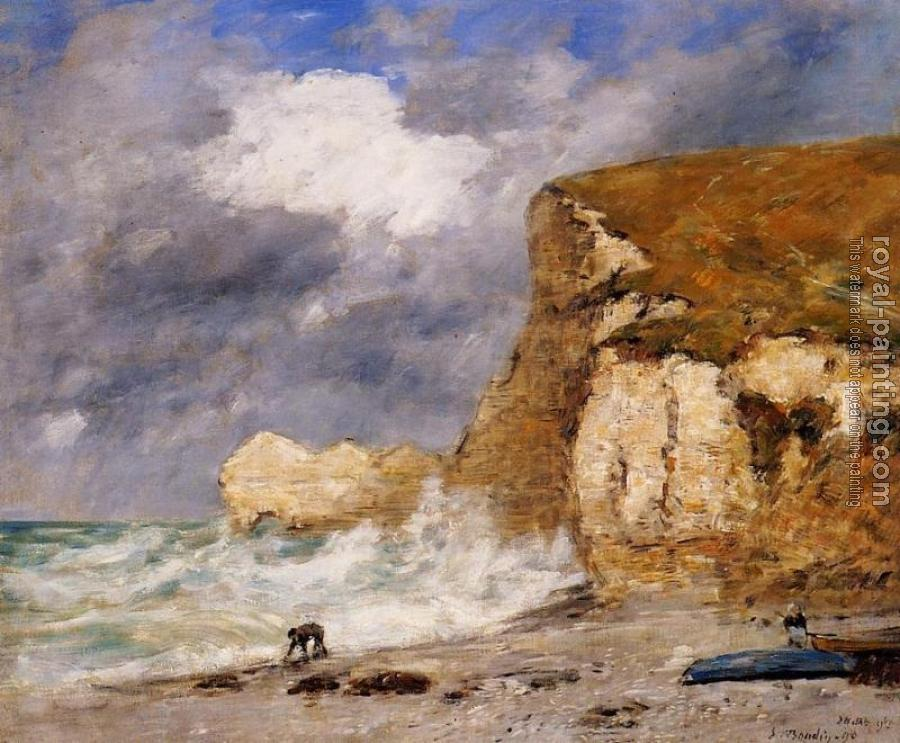 Eugene Boudin : Etretat, The Amont Cliff in November