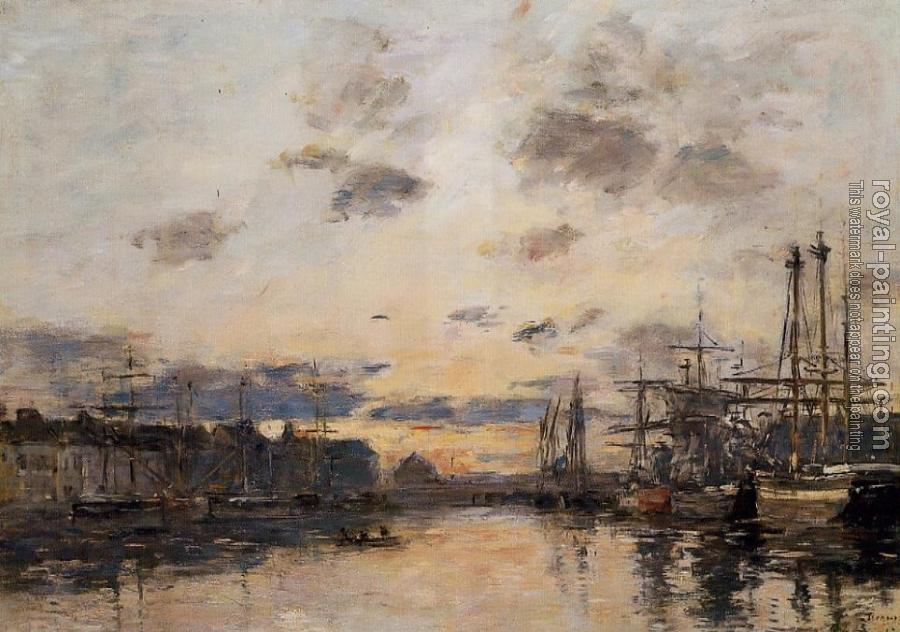 Eugene Boudin : Fecamp, the Basin III