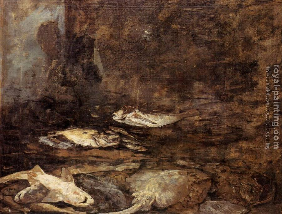 Eugene Boudin : Fish, Skate and Dogfish