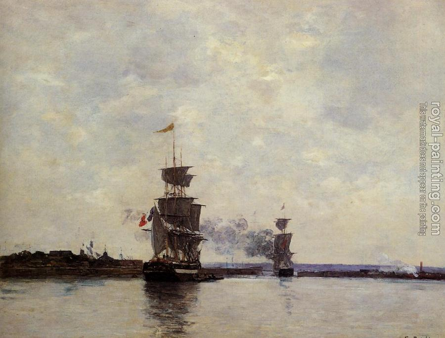 Eugene Boudin : Havre, the Outer Harbor
