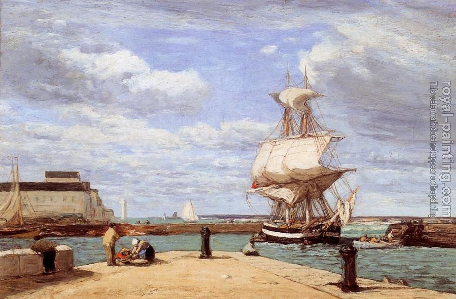 Eugene Boudin : Honfleur, the Port