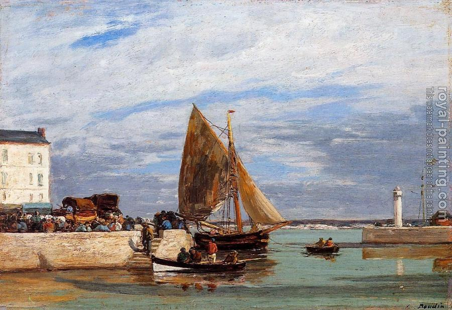 Eugene Boudin : Honfleur, the Port II