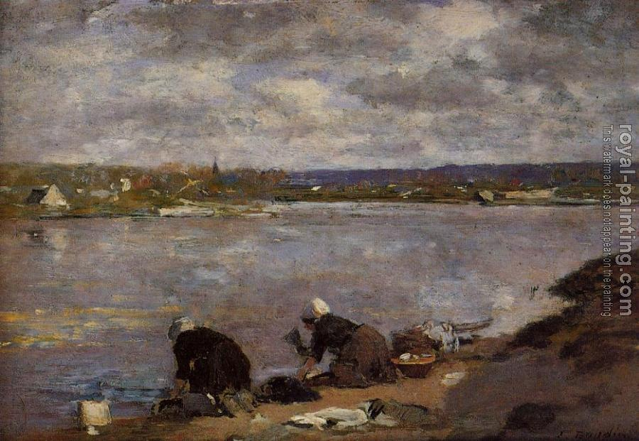 Eugene Boudin : Laundresses on the Bankes of the Touques III