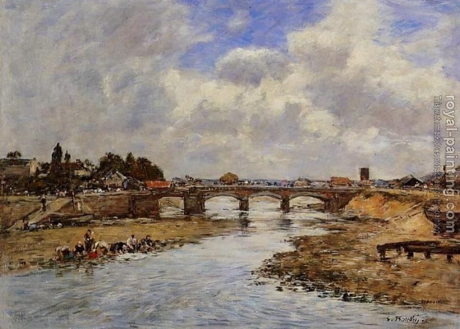 Eugene Boudin : Laundresses on the Bankes of the Touques V
