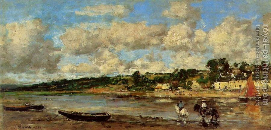 Eugene Boudin : Le Faou, Banks of the River