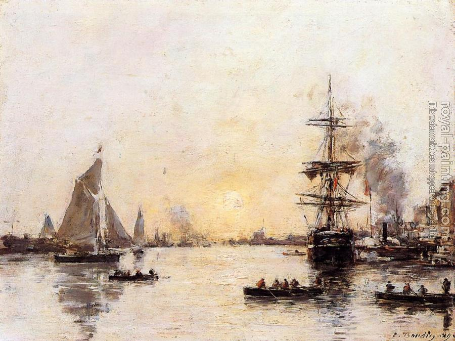 Eugene Boudin : Le Havre, the Outer Port III