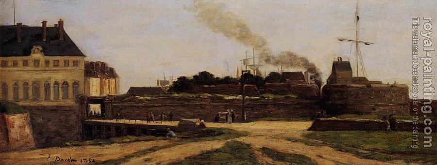Eugene Boudin : Le Havre, the Town Hotel and the Francois I Tower