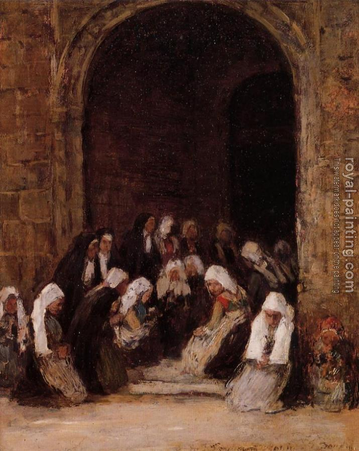 Eugene Boudin : Leaving Mass in Brittany