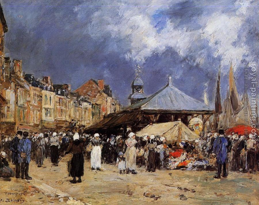Eugene Boudin : Market at Trouville