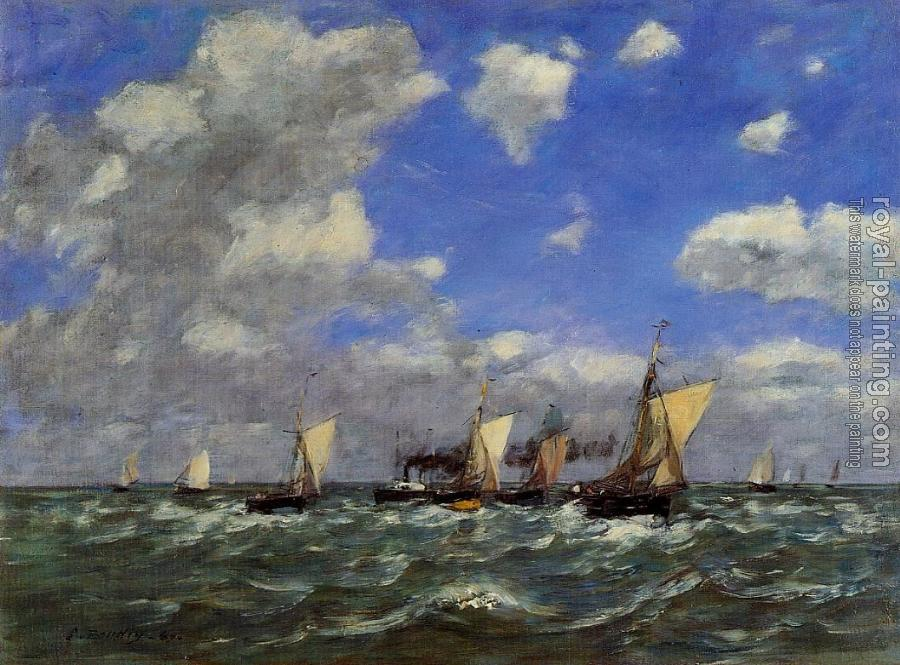 Eugene Boudin : Open Sea