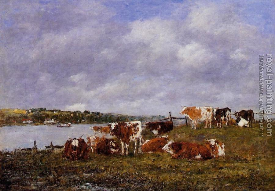 Eugene Boudin : Pasturage, the Valley of the Touques