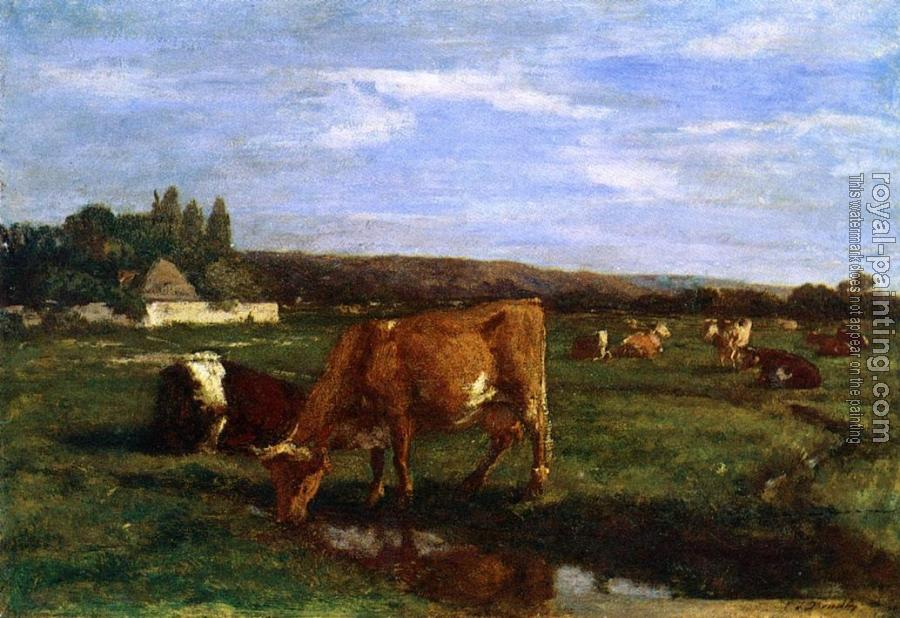 Eugene Boudin : Pasture in the Touques Valley