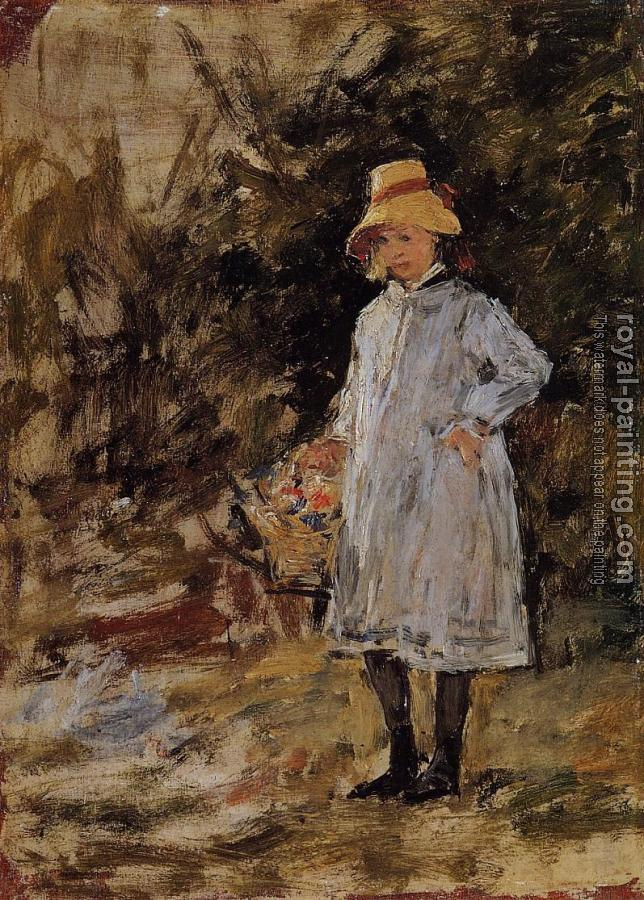 Eugene Boudin : Portrait of a Little Girl