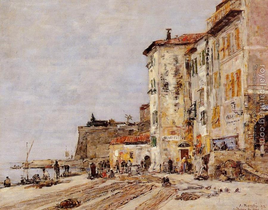 Eugène Boudin - Quai à Villefranche