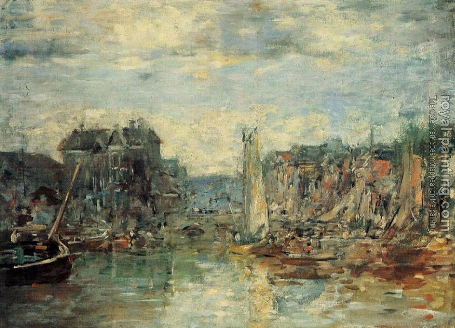 Eugene Boudin : Rotterdam, the Connodities Exchange Port