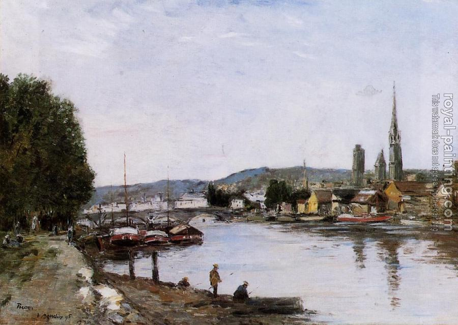 Eugene Boudin : Rouen, View from the Queen's Way