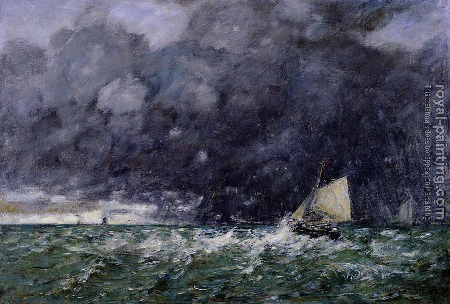 Eugene Boudin : Rough Seas