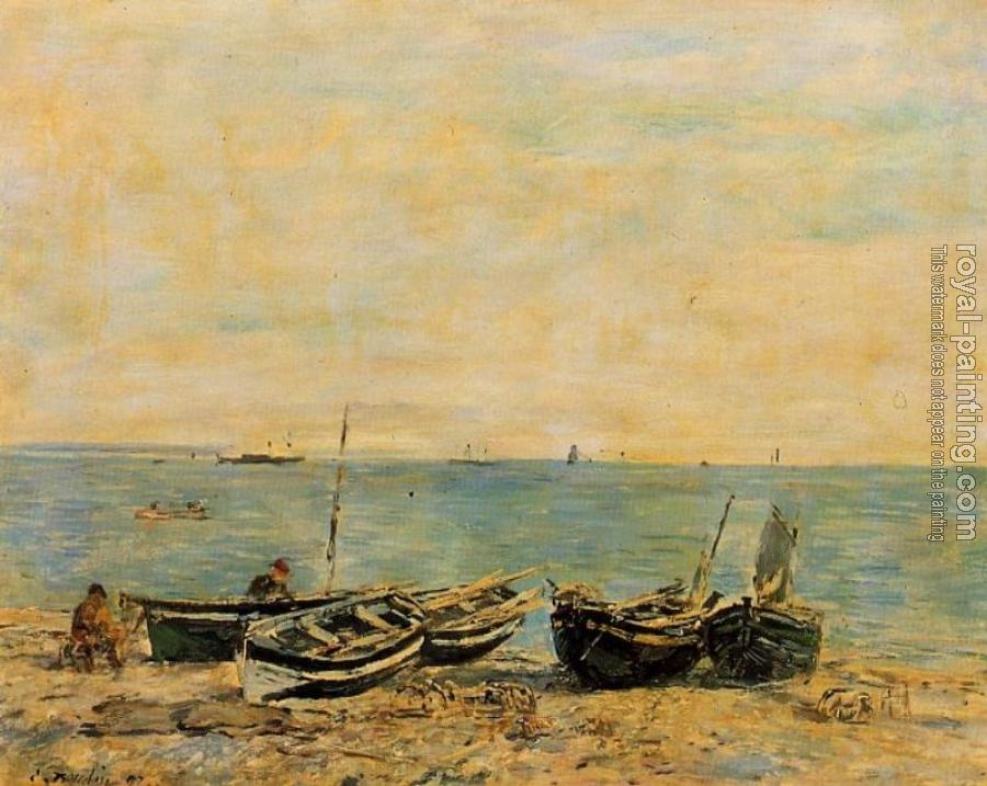 Eugene Boudin : Sainte-Adresse, the Shore