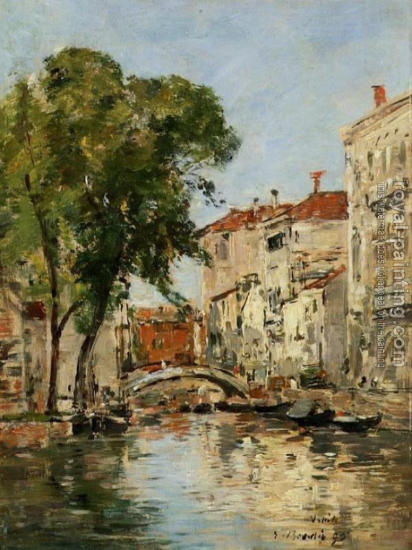 Eugene Boudin : Small Canal in Venice II