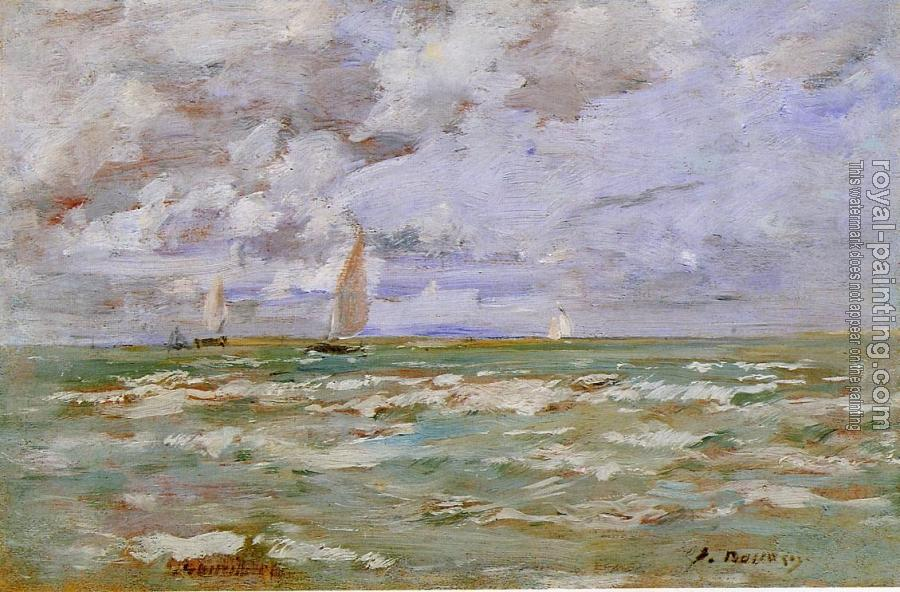 Eugene Boudin : Standing off Deauville