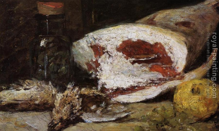 Eugene Boudin : Still Life with a Leg of Lamb
