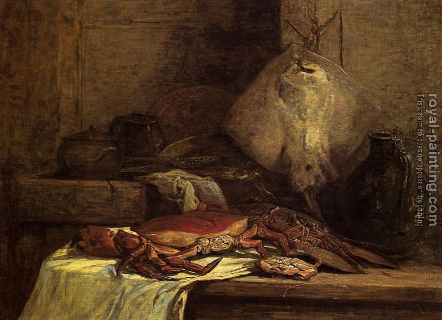 Eugene Boudin : Still Life with Skate
