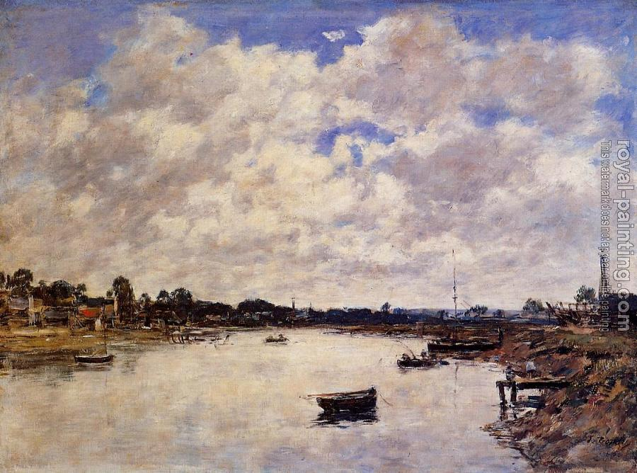 Eugene Boudin : The Banks of the Touques II