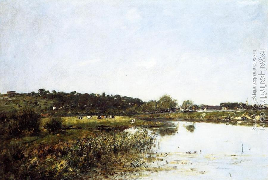 Eugene Boudin : The Banks of the Touques III