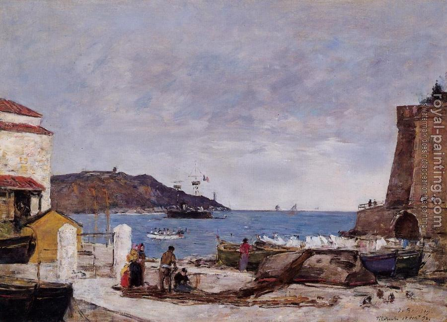 Eugene Boudin : The Bay of Villefranche, the Port
