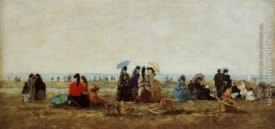 Eugene Boudin : The Beach at Trouville IV