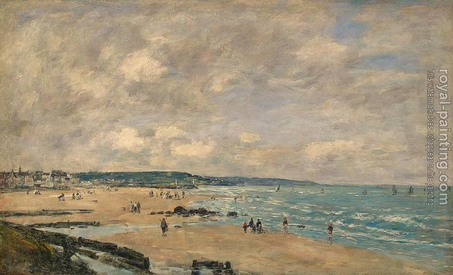 Eugene Boudin : The Beach at Trouville V