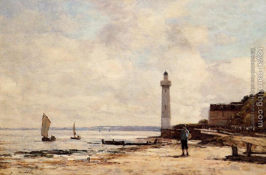 Eugene Boudin : The Honfleur Lighthouse