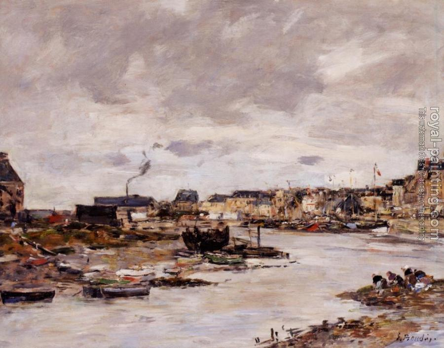 Eugene Boudin : The Inner Port of Trouville at Low Tide