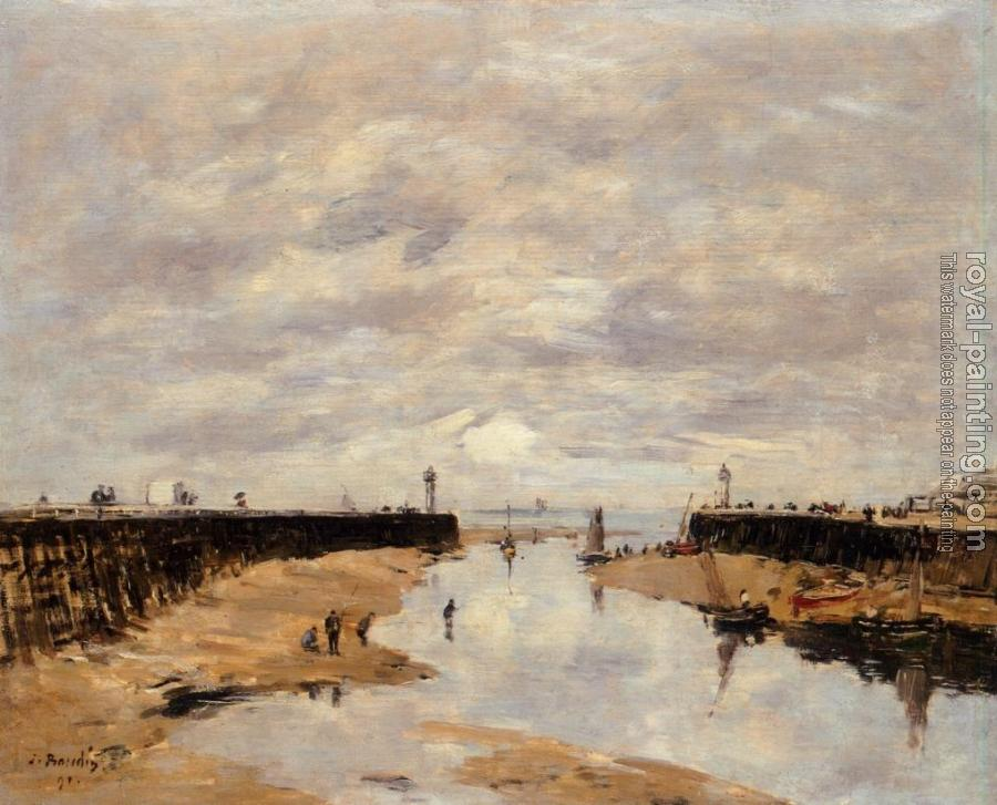 Eugene Boudin : The Jettys, Low Tide, Trouville
