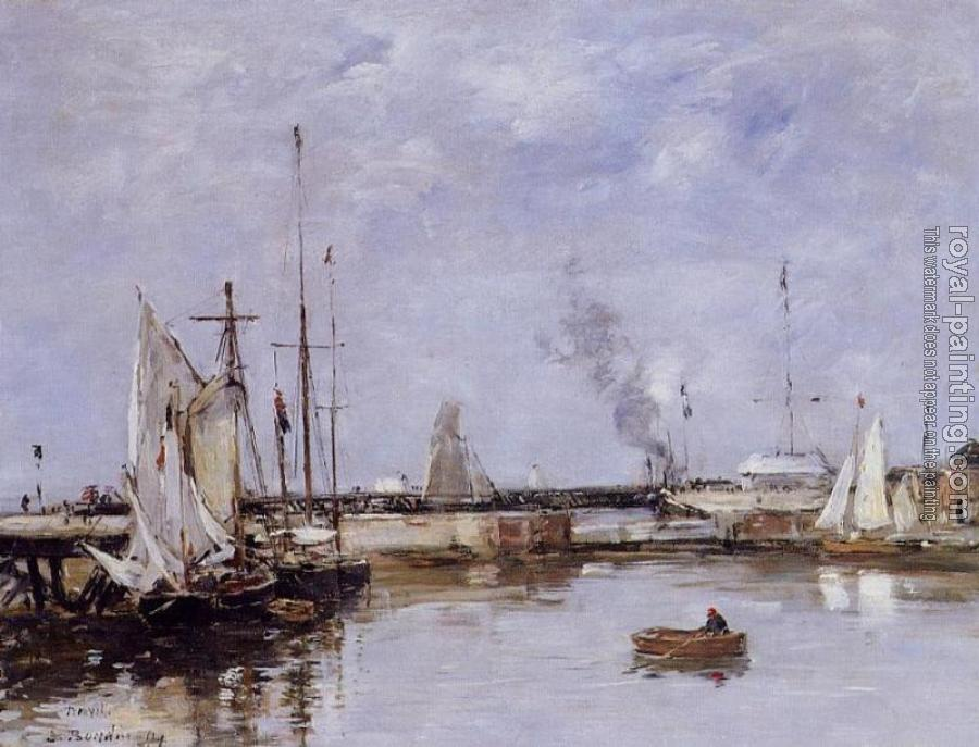 Eugene Boudin : The Lock at Trouville