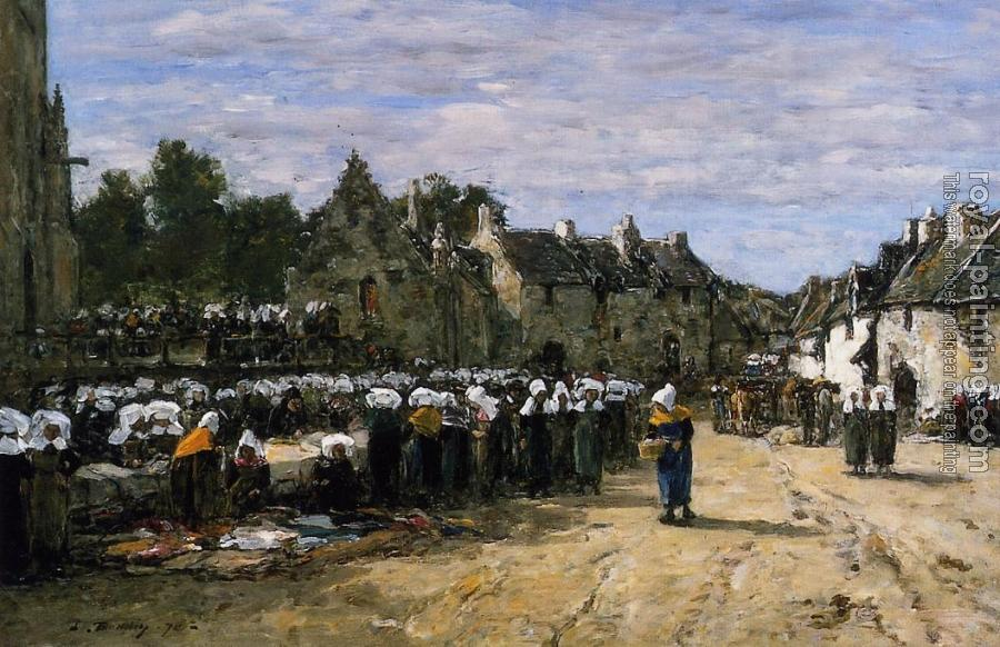 Eugene Boudin : The Market at Landenneau
